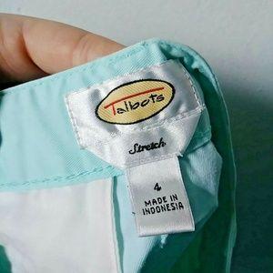 Talbots Shorts - Talbots Women's 4 Bermuda Shorts Mint Blue Stretch